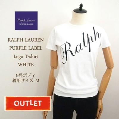 【難あり アウトレット】ラルフローレン パープルレーベル レディース ロゴ クルーネック Tシャツ