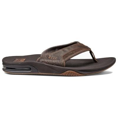リーフ Reef メンズ ビーチサンダル シューズ・靴 Leather Fanning Sandal Brown
