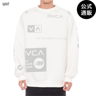 OUTLET 2019 RVCA ルーカ メンズ ALL OVER 2019 RVCA ルーカ CREW トレーナー WHT 全1色 S/M/L/XS rvca