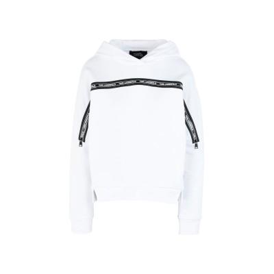 カールラガーフェルド KARL LAGERFELD スウェットシャツ ホワイト XS コットン 100% スウェットシャツ