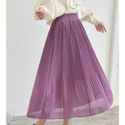 キレイめシフォンスカートプリーツスカート20代30代40代50代クラシック