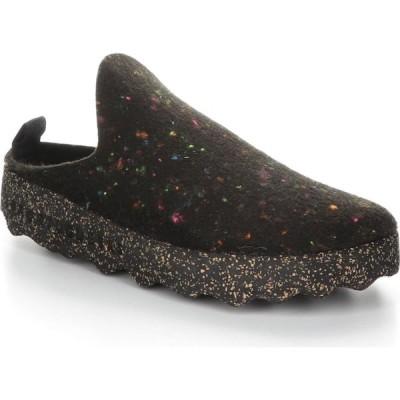 フライロンドン ASPORTUGUESAS BY FLY LONDON レディース スニーカー シューズ・靴 Fly London Come Sneaker Mule Black Fabric