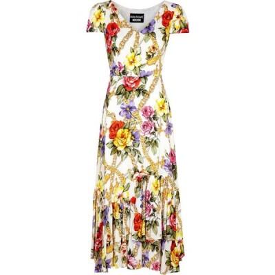 モスキーノ Boutique Moschino レディース パーティードレス ミドル丈 ワンピース・ドレス floral-print midi dress Multi