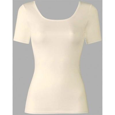 ワコールWacoal 肌さらさら綿100 トップ(3分袖) 婦人用 CLC270 (M、L) 【2枚までネコポスOK!】