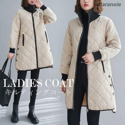 中綿コート レディース 大きいサイズ コート 2021 冬 40代 キルティングコート