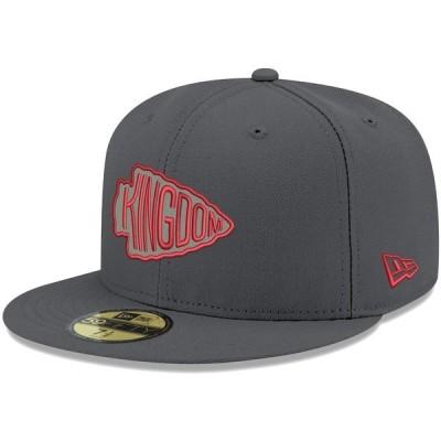 ニューエラ メンズ 帽子 アクセサリー Kansas City Chiefs New Era Alternate Logo Storm II 59FIFTY Fitted Hat Graphite