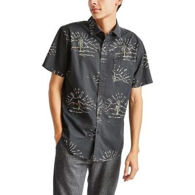 ブリクストン シャツ メンズ トップス Charter Print Woven Shirt - Men's Washed Black