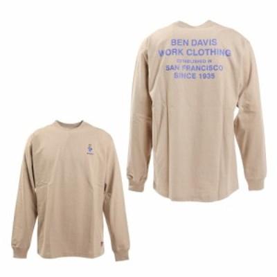 ベンデイビス(BEN DAVIS)ミニゴリラ刺繍長袖Tシャツ 1380018-BEG(Men's)