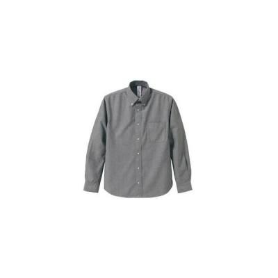 レビューで次回2000円オフ 直送 オックスフォードボタウンダウンワンウォッシュ長袖シャツ OXグレー Sサイズ ファッション トップス シャツ メンズシャツ