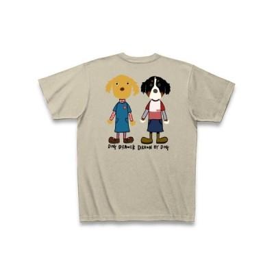 ゴールデン×バーニーズ片面プリント Tシャツ Pure Color Print(シルバーグレー)