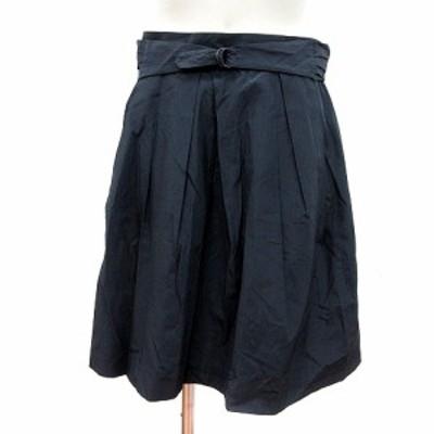 【中古】マカフィー MACPHEE トゥモローランド フレアスカート ひざ丈 38 紺 ネイビー /MN レディース