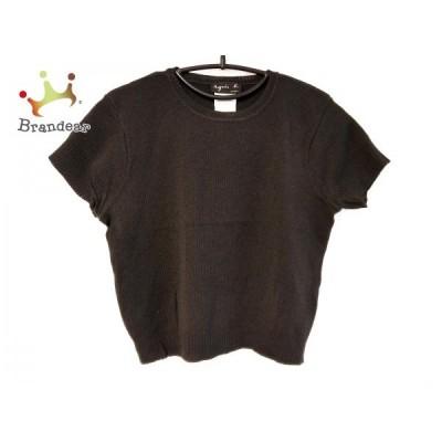 アニエスベー agnes b 半袖セーター サイズ2 M レディース 黒    値下げ 20201112
