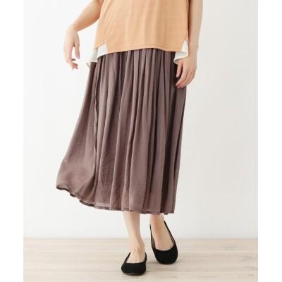 SHOO・LA・RUE(シューラルー) 【フリーサイズ】消しプリーツロングスカート