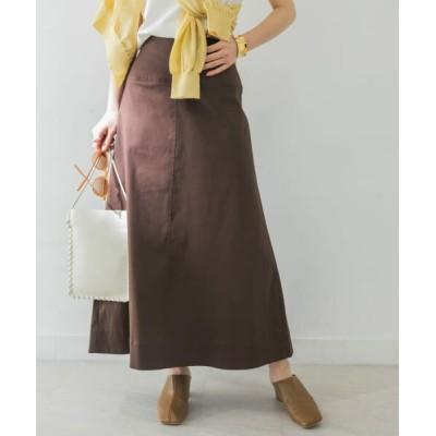 URBAN RESEARCH/アーバンリサーチ 綿麻チノAラインスカート D.BROWN 38