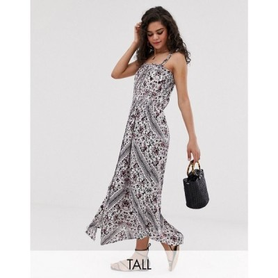 ワイ エー エス Y.A.S Tall レディース ワンピース ワンピース・ドレス festival tie shoulder maxi dress Multi