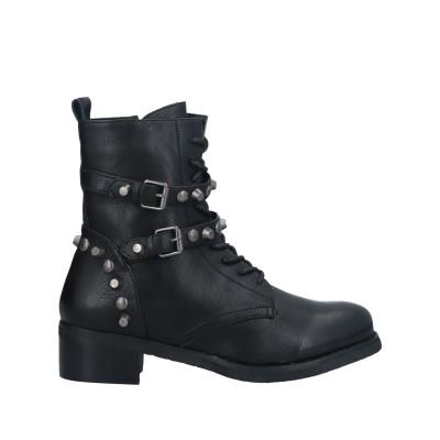 カフェノワール CAFèNOIR ショートブーツ ブラック 38 紡績繊維 ショートブーツ