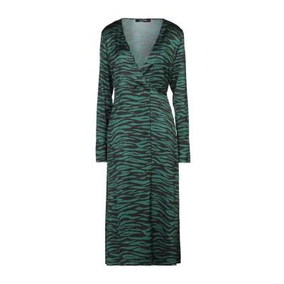 ANDAMANE 7分丈ワンピース・ドレス グリーン XS レーヨン 97% / ポリウレタン 3% 7分丈ワンピース・ドレス