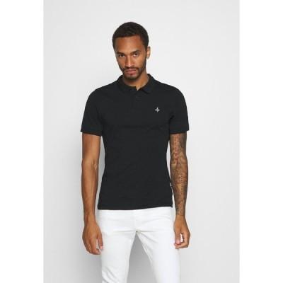 ジン ポロシャツ メンズ トップス MUSCLE FIT - Polo shirt - black