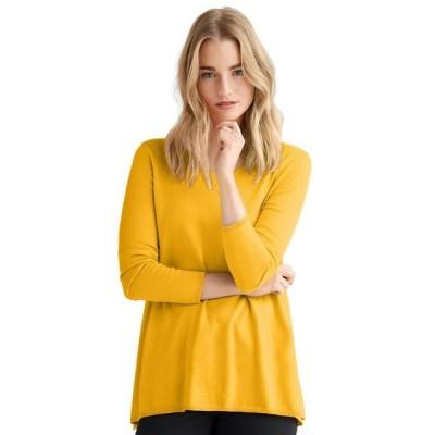 レディース 衣類 トップス ellos Women's Plus Size Pleat Back Sweater ブラウス&シャツ