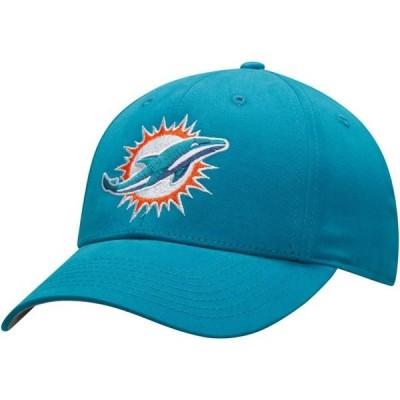 キッズ スポーツリーグ フットボール Youth Aqua Miami Dolphins Basic Team Color Adjustable Hat - OSFA 帽子