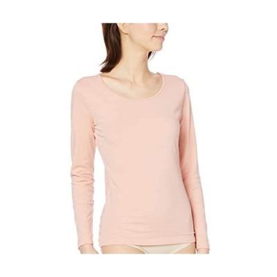 [セシール] インナーシャツ スマートヒート 背中二重あったか 10分袖 発熱するコットン ぬく綿 UE-1475 (ブロッサムピンク M)