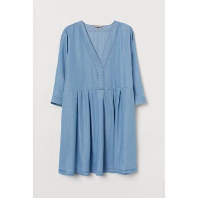 H&M - H&M+ リヨセルワンピース - ブルー