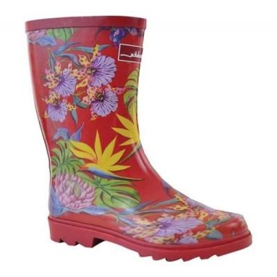 アヌシュカ Anuschka レディース レインシューズ・長靴 シューズ・靴 Mid-Calf Rain Boot Island Escape Printed Rubber