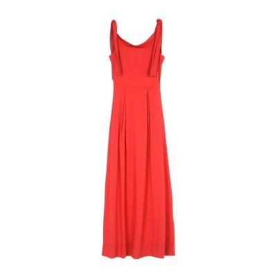 アルファスタジオ ALPHA STUDIO ロングワンピース&ドレス レッド 44 コットン 95% / ポリウレタン 5% ロングワンピース&ドレス