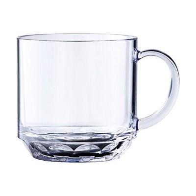 マグカップ コップ コーヒーカップ クリア 透明 340ml 食洗機対応 キャンプ向け 耐熱100度 割れにくい グランピング トライタン素材 日本製