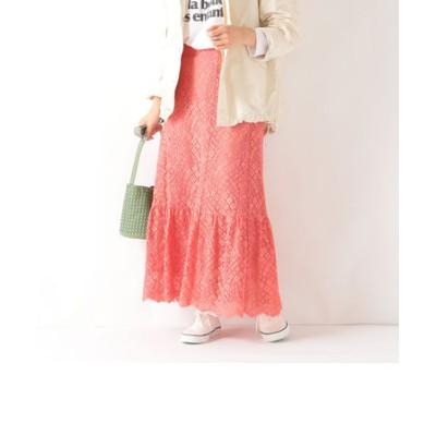 SHIPS any: フレア レース スカート