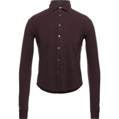フェデーリ FEDELI メンズ シャツ トップス solid color shirt Deep purple