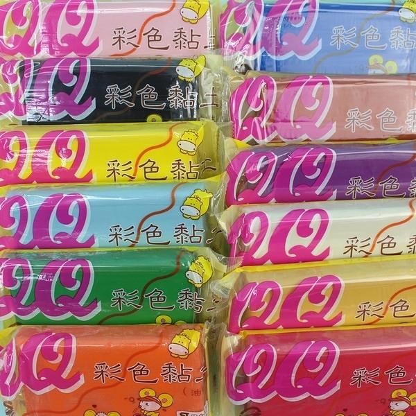 QQ彩色黏土 油黏土 油粘土400g/一個入(定80) QQ彩色油土 油性黏土 ST安全玩具-立鑫