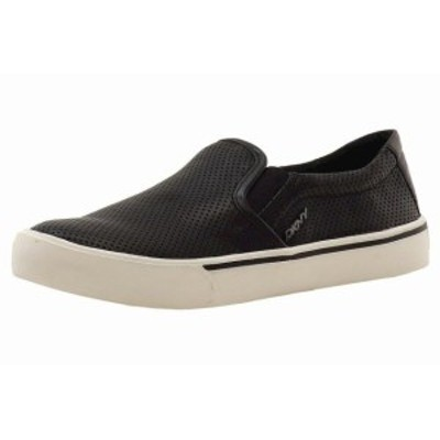 DKNY ダナキャランニューヨーク ファッション シューズ Donna Karan DKNY Womens Bess Black Leather Fashion Sneakers Shoes