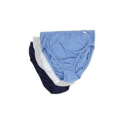 Jockey ジョッキー レディース 女性用 ファッション 下着 ショーツ Plus Size Elance(R) French Cut 3-Pack - Deep Blue Heather/Deep Blue Dot/Sea Blue Den..