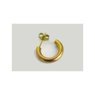 新潟 燕三条 純チタンピアス 片耳 Gリング3×15 プラチナ  金属アレルギーの方も安心