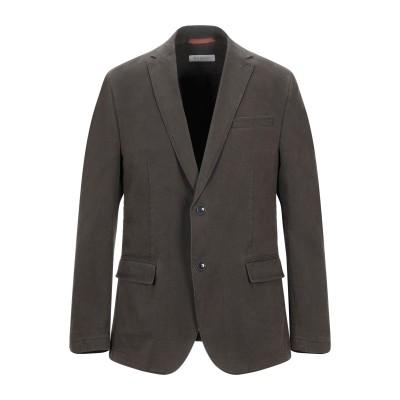 BUGATTI テーラードジャケット ミリタリーグリーン 50 コットン 98% / ポリウレタン 2% テーラードジャケット