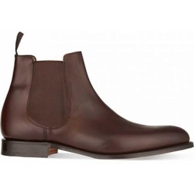 チャーチ CHURCH メンズ ブーツ チェルシーブーツ シューズ・靴 Houston leather Chelsea boots Dark brown