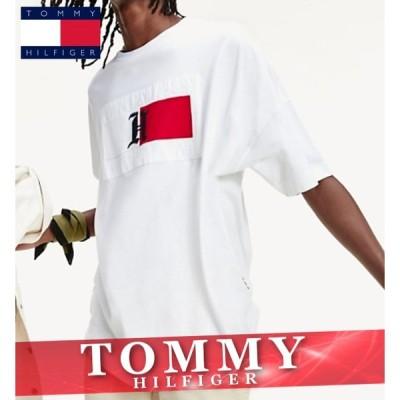 トミーヒルフィガー プリントTシャツ 半袖 メンズ リベット ロゴ 丸首 XS〜XXL 新作 TOMMY