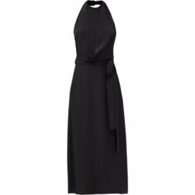 レイ Raey レディース ワンピース ワンピース・ドレス Halter-neck draped-front wraparound silk dress Black