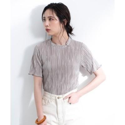 tシャツ Tシャツ ミニプリーツ ハーフスリーブカットソー【AUNT MARIE'S】