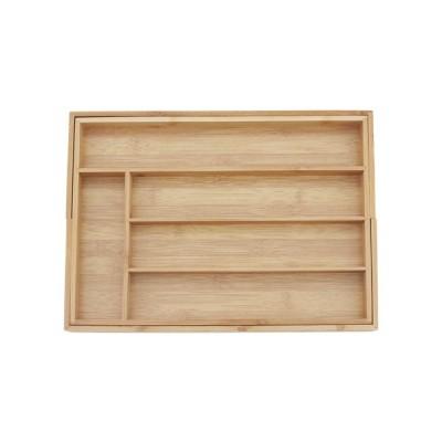 収納ボックス 7格多機能格納式 竹選別 引き出し仕上げボックス テーブルトップ引き出し 食器収納 事務用品収納 工具収納ボックス サイズ調整可能