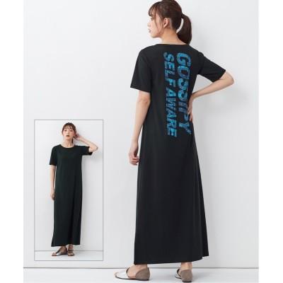 大きいサイズ マキシ丈カットソーワンピース ,スマイルランド, ワンピース, plus size dress