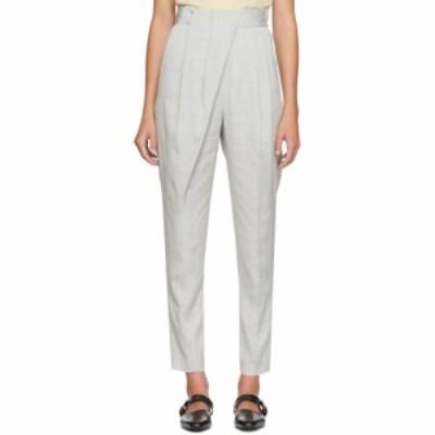 プロエンザ スクーラー Proenza Schouler レディース ボトムス・パンツ Grey Draped Suit Trousers Grey