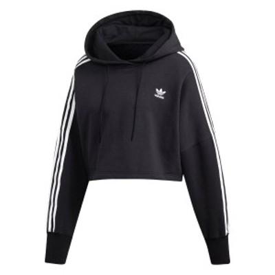 adidas CROPPED HOODIE アディダス クロップド フーディー BLACK ed7554