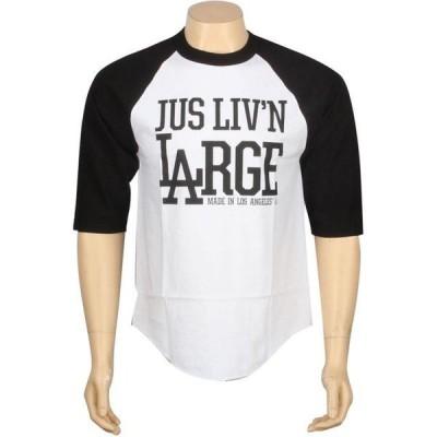 ジャスリブ ユニセックス 服  JSLV Livin Large Raglan Tee (white / black)