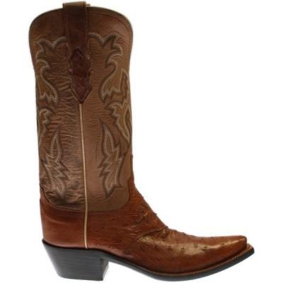 ルチーズ レディース ブーツ・レインブーツ シューズ Augusta Ostrich Snip Toe Cowboy Boots