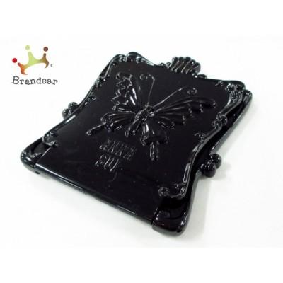アナスイ ANNA SUI ミラー 美品 黒×クリア プラスチック×ガラス 新着 20200620