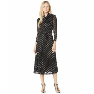 Anne Klein アンクライン ドレス 一般 Printed Mesh Long Sleeve Button Down Dress
