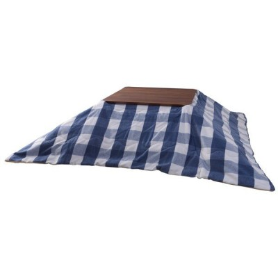 『代引不可』東谷 薄掛こたつ布団 正方形 W190×D190cm ブルー KK-165BL