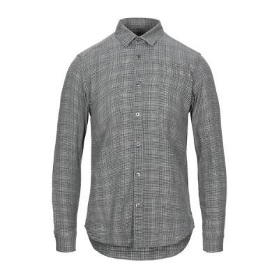 GREY DANIELE ALESSANDRINI チェック柄シャツ ファッション  メンズファッション  トップス  シャツ、カジュアルシャツ  長袖 スチールグレー